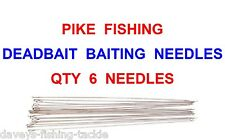 6 Pike Deadbait Needles for Sea Coarse Fishing Snap Tackle Dead Bait Rigs Lures
