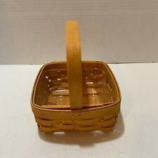 Longaberger Baskets Pair Small One Rectangle One Square Berry with Liner Handles
