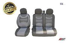 Vauxhall Vivaro FUNDAS DE ASIENTO Premium Confort Acolchado Tela Gris Negro