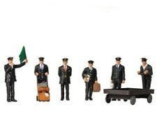 N scale Scenecraft 1940's / 50's RAILROAD STATION STAFF Figures with Acc. # 317
