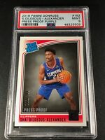 SHAI GILGEOUS-ALEXANDER 2018 PANINI DONRUSS #162 PRESS PROOF ROOKIE /199 PSA 9