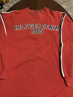 Vintage Tommy Hilfiger Tommy Jeans Red Spell Out Mens Sweatshirt Large L