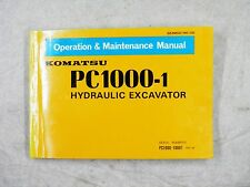 KOMATSU PC1000-1 OPERATION AND MAINTENANCE MANUAL  10001-UP