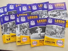 More details for job lot of 18 rugby league programmes all featuring leeds homes 1980s