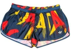 LE Adidas Originals Women's Paris Print Shorts AB2648 new with tags