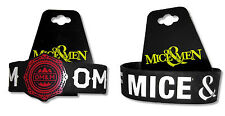 OF MICE & MEN 2-PC SET SILICONE WRISTBAND SET: RED CREST & BASIC BLACK - NEW NWT