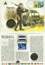 NICARAGUA GUERRE ARMEE MILITAIRE JEEP MILITARY GUARD SANDINO 1 CORDOBA 1984 1985