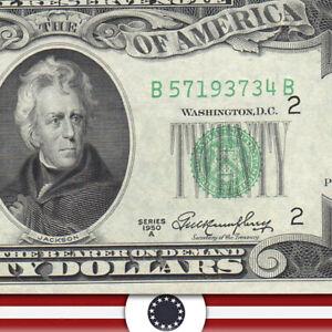1950-A $20 NEW YORK FRN CU  Fr 2060-B  B57193734B-WUT