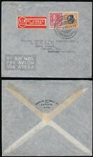 THAILAND SIAM 1938 AIRMAIL KLM SERVICE BARROW BROWN CO PRINTED ENV.to SCOTLAND