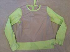 Lululemon Long Sleeve Shirt Top Rash Guard Green Dune Beige Size 10