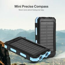 8000/10000mAh Outdoor Fast Charger Solar Mobile Power Bank Case Kit w/ Compass
