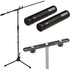 Rode m5 MP Microfono Set + K & M STEREO bar 23550 + TAMBURI SUPPORTO MICROFONO