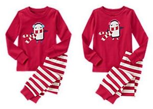NWT Gymboree COZY PENGUIN 2015 Christmas/Holiday Red 2p Pajamas/Gymmies Boy/Girl