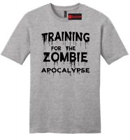 Training For The Zombie Apocalypse Funny Mens Soft T Shirt Workout Gym Tee Z2