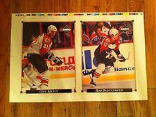 1992 Upper Deck uncut Card sheet Philadelphia Flyers DAVE BROWN Rod Brind'Amour