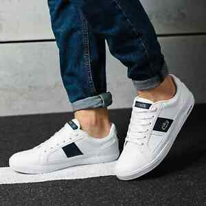 Lacoste Europa mens 118 1 QSP SPM Leather/Syn Trainers Bgrade RRP:£85.00 White