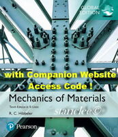 NEW 3 Days to AUS Mechanics of Materials w/ Video Code 10E Hibbeler 10th Edition
