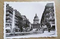 TOURIST PHOTOGRAPH (8.8x6.2 cm)- LA RUE SOUFFLOT ET LE PANTHEON, PARIS FRANCE