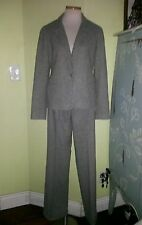 Lafayette 148 gray pantsuit sz 2 wool blend lined
