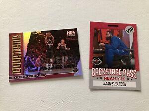 Lot De 2 NBA Panini James Harden Houston, Brooklyn Nets 2020/21