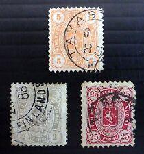 FINLAND 1875 SG76, 81 & 82 Fine/Used NB1864