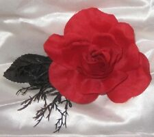 A Red Rose Among Thorns~Gothic Handcrafted Barrette Hair Clip