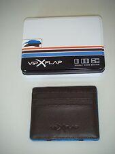 NEU Leder- Geldbörse / Kreditkartenhalter   > VIP  FLEX <   schwarz-blau  in OVP