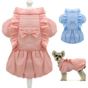 Small Dog Winter Dress for Girl Dogs Pet Puppy Coats Warm Clothes Outfit Apparel