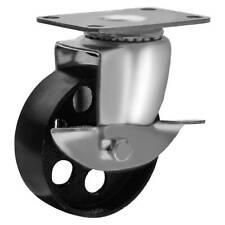 All Steel Swivel Plate Caster Wheels Heavy Duty High Gauge Steel 3