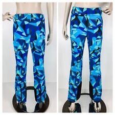 Spyder Empress Pant Women's Blue Geometric Snow Ski Insulated Size 8 US 10 EUR