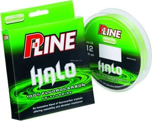 P-Line HF200-12 Halo Fluorocarbon Fishing Line 12lb 200yd Mist Green