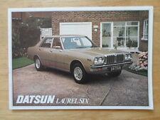 DATSUN LAUREL SIX orig 1977 UK Mkt Sales Brochure - Nissan