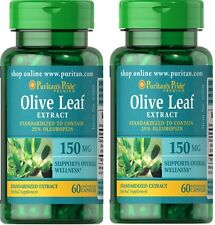 2x Olive Leaf Estratto standardizzato 150 MG X 60 (120) Capsule - 24hr Dispatch