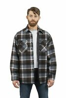 YAGO Men's Plaid Flannel Button Up Casual Shirt Jacket Black/Brn/BN22 (S-5XL)