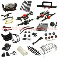 Front Rear Axle Bumper Leaf Spring Suspension 1:5 Planetary Gearbox For RC D90