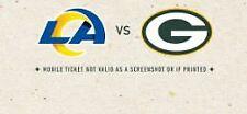 2 Tickets Green Bay Packers vs Los Angeles Rams Lambeau Field 11/28/21