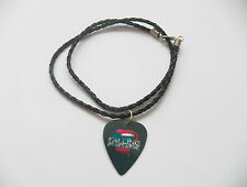 """FALLING IN REVERSE guitar pick plectrum braided twist LEATHER NECKLACE 20"""""""