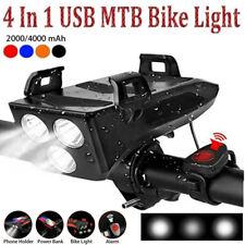 LED Fahrradlicht Fahrradbeleuchtung Fahrad Scheinwerfer USB Wiederaufladbare NEU