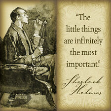 SHERLOCK HOLMES QUOTE: VINTAGE RETRO HANGING METAL SIGN:HOME HOME DECOR GIFT 4