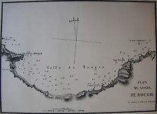 PLAN DU GOLFE DE BOUGIE ,1862, GAUTTIER, PLANS PORTS RADES MER MEDITERRANEE