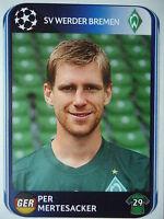 Panini 24 Per Mertesacker Werder Bremen UEFA CL 2010/11