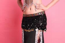 Belly Dance Belt Belly Dancing Hip Scarf Sequins Tassel Waist Belt 8 Colors