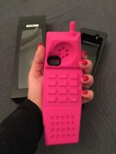 MOSCHINO COVER IPHONE 5 5s BARBIE PHONE NEW TAG BOX ORIGINALE LOGO PINK RARE
