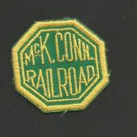 "McK CONN RAILROAD   RAILROAD PATCH  2 "" *"