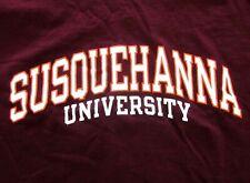 SUSQUEHANNA UNIVERSITY tee XL collegiate lettering River Hawks T shirt Champion