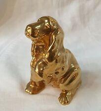 1985 Ltd Ed 97/500 ROOKWOOD Pottery Golden Cocker Spaniel Paperweight