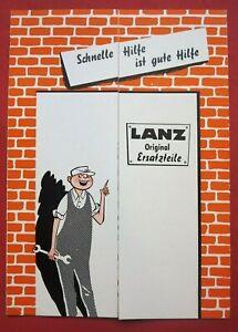 Lanz Bulldog Originalprospekt Schlepper auch für Sammler von Hanomag Deutz Fendt