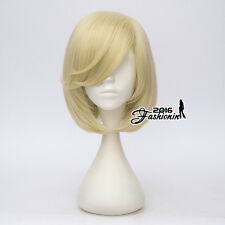 YURI!!! on ICE Yurio Short Light Blonde Straight Hair Unisex Anime Cosplay Wig