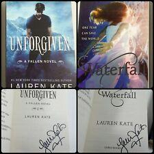 Lauren Kate Signed Lot of 2: Unforgiven (Fallen #5), Waterfall - Trade Paperback