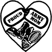 Soldier Mom Military Heroes Adhesive Car Decal Many Colors Pick a Size